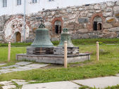 Bells in the territory of the Solovki monastery, Russia — Stock Photo