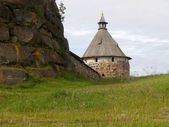 Arkhangelsk tower of the Solovki monastery, Russia — Stock Photo