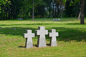 Kaliningrad. Crosses on the International memorial cemetery of v — Stock Photo