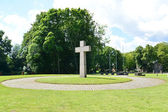 Kaliningrad. Memorable cross on the International memorial cemet — Stock Photo
