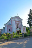 Berdichev, Ukraine. Sacred Varvara's church, place of wedding of — Stock Photo
