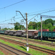 Stock Photo: Cargo compositions at railway station