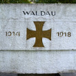 "Fragment of a monument to ""WALDAU 1914-1918"" which have perished — Stock Photo"