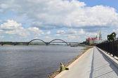 Pohled na Volze v rybinsk, yaroslavl region — Stock fotografie