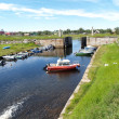 Solovki. The old channel and lock in the settlement Solovki — Stock Photo #33605641