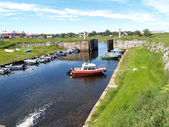 Solovki. The old channel and lock in the settlement Solovki — Stock Photo