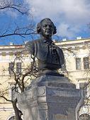 St. Petersburg. Bust of M.B. of Lomonosov (1711-1765) — Stock Photo