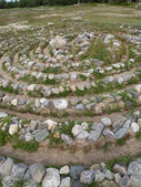 Stone labyrinth on the Big Solovki island — Stockfoto