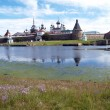 View of the Spaso-Preobrazhensky Solovki monastery, Russia — Stockfoto