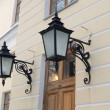 Pavlovsk. Two decorative lamps on a wall of the Big palace — Stock Photo #34982273