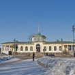 Pavlovsk. View of the railway station — Foto Stock
