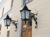 Pavlovsk. Two decorative lamps on a wall of the Big palace — Stock Photo
