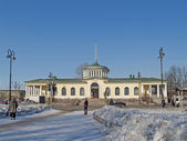 Pavlovsk. View of the railway station — Stock Photo
