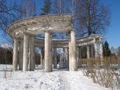 Pawlowsk. apollos kolonnade im winter — Stockfoto