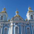 St. Petersburg. Nikolsky a sea cathedral against the sky — Stock Photo