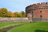 "Kaliningrad. ""Der Don's"" tower in the fall — Stock Photo"