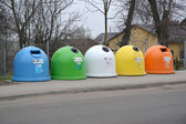 Garbage containers in Ketrzin, Poland — Stock Photo