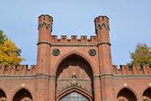 Kaliningrad. rossgarten poorten, onderste weergave — Stockfoto