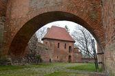 Fragmento de uma muralha defensiva do bloqueio reshel, polónia — Fotografia Stock