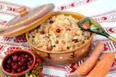 Sauerkraut with a cranberry — Stock Photo
