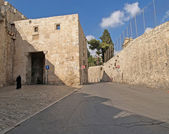 Israel, Jerusalem. The street in the Old city  — Stock Photo