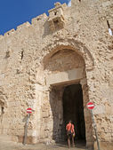 Israël, Jeruzalem. Abdij muur Dormitsion — Stockfoto