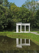 Kaliningrad. Colonnade in Yunost park — Stock Photo