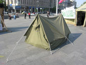 Kiev. The tent town to squares of Independence (Maidan Nezalezhn — Stock Photo