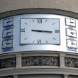 The hours showing time in the different cities of the world — Stock Photo