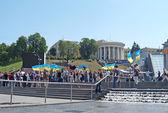 Г. Киев. совещание независимости на площади, 2007 — Стоковое фото