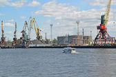 View of the Kaliningrad trade seaport — Stock Photo