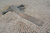 Prague. Monument to students Palakh and Zayitsu on a place of se — Stockfoto