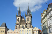 Prague. Church of the maiden Maria before Tyn — Stok fotoğraf