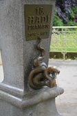 """Fragment of a mineral source No. 15 """"Snake"""" in Karlovy Vary, the — Stock Photo"""