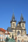 Prague. Church of the maiden Maria before Tyn — Stock Photo