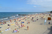 Beach on the bank of the Baltic Sea, Russia — Stock Photo