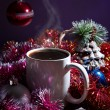 Stock Photo: Winter still life with coffee