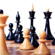 Chess board focused closeup — Stock Photo