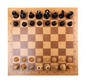 Chess board isolated — Stock Photo