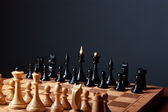 Chess board closeup — Stock Photo