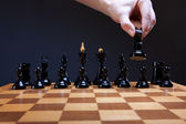 Course of the chess knight — Stock Photo