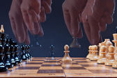 Game in a chess — Stok fotoğraf