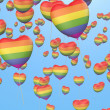 Gay pride balloons — Stock Photo
