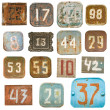 Old numbers background — Stock Photo #20088827