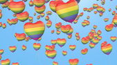 Gay-Pride-Ballons — Stockfoto