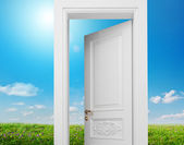 Door to summer — Stock Photo