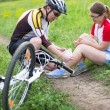 Stock Photo: Biking accident