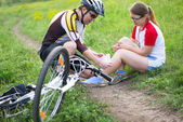 Biking accident — Stock Photo