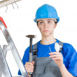 Stock Photo: Injured worker