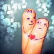 Stock Photo: Fingers in love